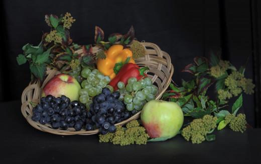 Фото еда натюрморт фрукты овощи салаты фото